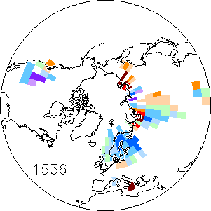 Temperature Map For Year 1536