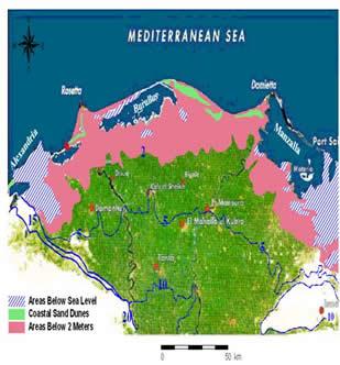 CIRCE Integrating Case Studies - Map of egypt delta