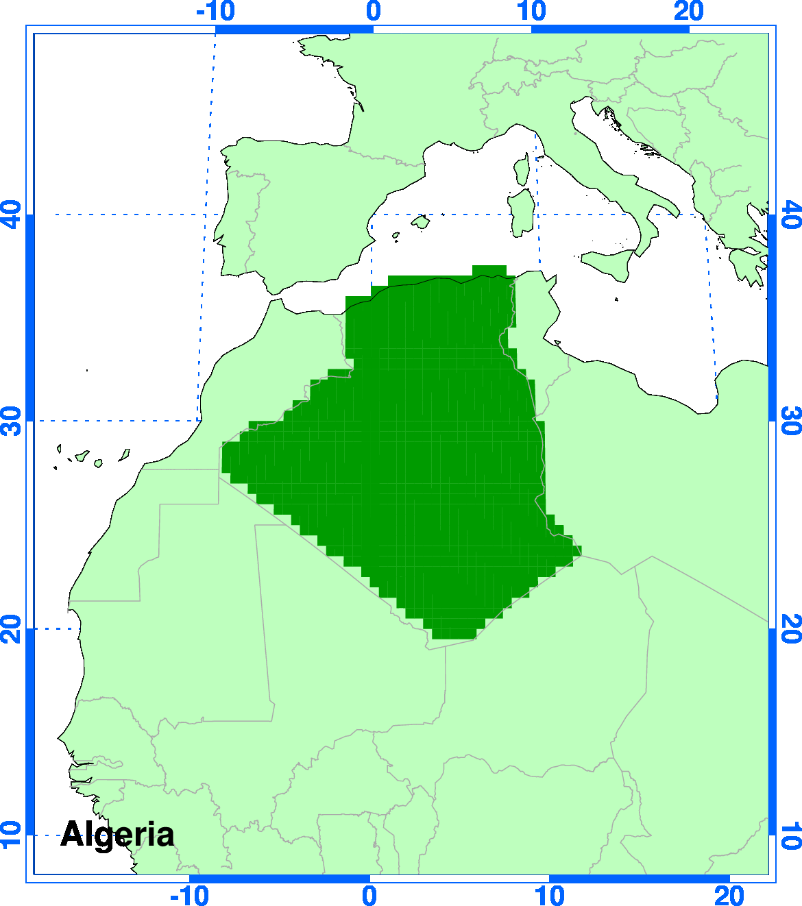 ClimGen Algeria climate projections observations