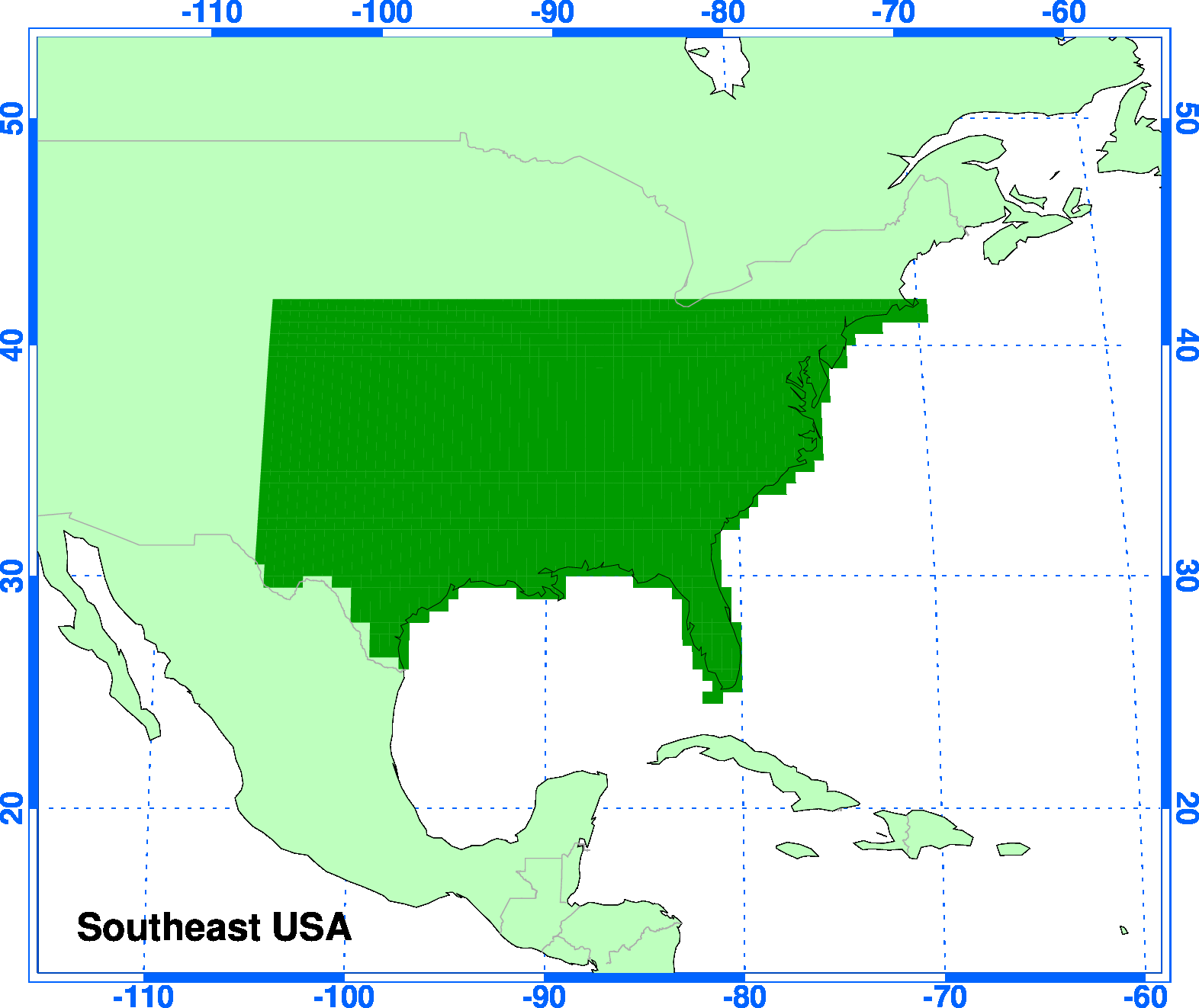 Climgen Southeast Usa Climate Projections Observations