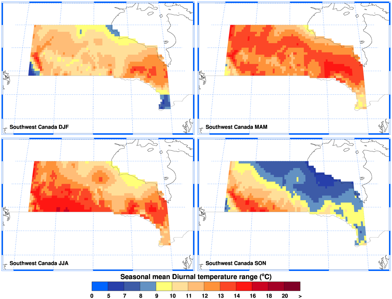 Climgen Southwest Canada Climate Observations