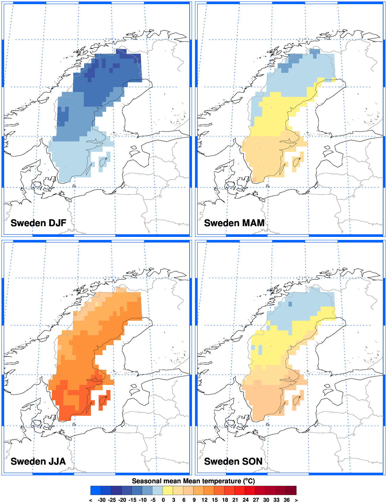 ClimGen Sweden Climate Observations - Sweden big map